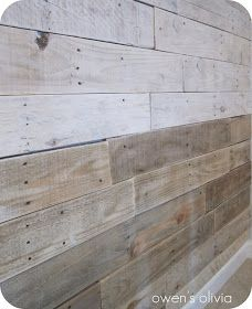 Owen's Olivia: Whitewashed Wood Technique {Tutorial} - might try this on the office wall (lower part) to protect from bumps and dings. Painted Furniture, Diy Furniture, Pallet Walls, Wood Walls, Wood Paneling, Cedar Walls, Pallet Boards, Rustic Walls, Wood Flooring