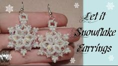 Tutorial: Snowflake Earrings | HoneyBeads1