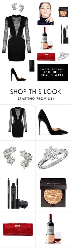"""Untitled #36"" by parvinn8 ❤ liked on Polyvore featuring Balmain, Levi's, Christian Louboutin, Elise Dray, Tiffany & Co., Rodial, Laura Mercier, Hermès, Mark & Graham and NARS Cosmetics"
