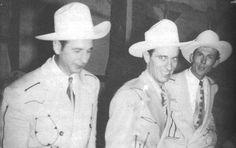 "rootsrockweirdo: "" Cowboy Copas, Ernest Tubb and Hank Williams / 1951 """