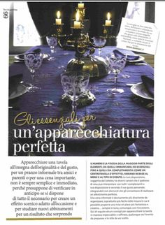 GUSTOSANO - september 2015 - a perfectly dressed table - shop.marinac.it