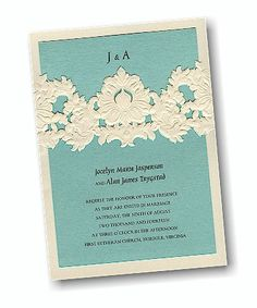 Opulent Filigree - Ecru Wedding Invitation