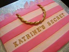 Victoria's Secret bridal shower cake. (or any other shopping bag cake)  @Teri McPhillips McPhillips McPhillips McPhillips McPhillips Lucero-Serrano
