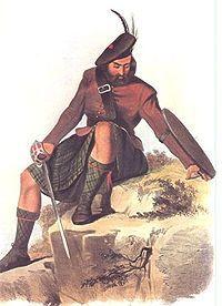 Clan Mackay - A Victorian era romantic illustration of a MacKay clansman by R. R. McIan.