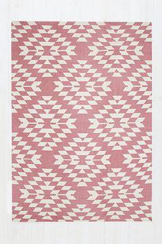 Tapis Costa géométrique 5x7 rouge