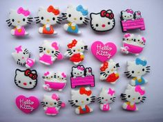 27a22ae2697d9 20 Hello Kitty Shoe Charm Fits Jibbitz Croc Shoes  amp  Bracelets