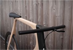 Good wood - the brutally simple & bike by designer Paul Guerin and wood craftsman Till Breitfuss, who together are better known as the wonderfully minimalist bike design company Keim. Wooden Bicycle, Wood Bike, Velo Design, Bicycle Design, Bicycle Pictures, Paris Design, Bike Frame, Cycling Bikes, Industrial Design