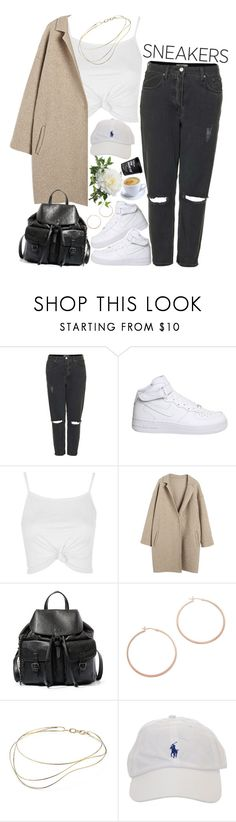 """""""White Sneakers"""" by sisistyle ❤ liked on Polyvore featuring Topshop, NIKE, Steve Madden, Jennifer Zeuner, Elsa Peretti, StreetStyle, boyfriendjeans and whitesneakers"""