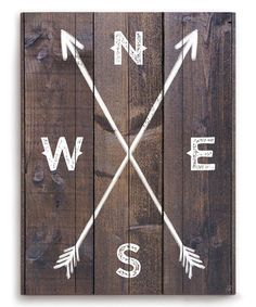 Look what I found on #zulily! Cardinal Directions Wall Art #zulilyfinds