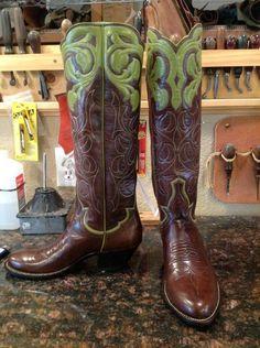 My new custom boots ~ see Buffalo Run Boots on Facebook