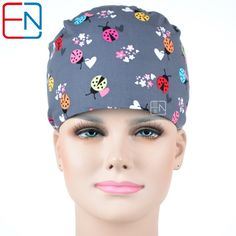 Accessories Cute Dog Owl Printed Medical Cap Clinic Surgical Hospital Doctor Cap Laboratory Pharmacy Beauty Salon Workwear Hat For Men Women
