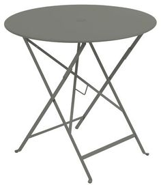 Bistro Foldable table - Ø 77cm - Foldable - With umbrella hole Rosemary by Fermob