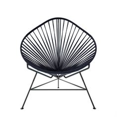 """Acapulco Chair - Black Weave on Black Frame @ Touch of Modern  //  """"Inspired by a time-honored Mayan weaving technique, the Acapulco Chair has now been reproduced by Innit, implementing the same old hammock-style system"""""""