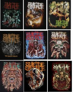 EXTREME METAL DEATHCORE BAND SUICIDE SILENCE SKULL MAN WOMAN T-SHIRT SIZE M,L