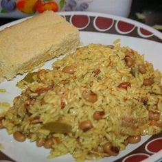 Creole Black-Eyed Peas and Rice Cajun Dirty Rice Recipe, Cajun Recipes, Rice Recipes, Cooking Recipes, Casserole Recipes, Yummy Recipes, Yummy Food, Spicy Dishes, Food Dishes