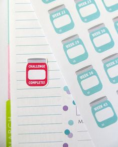 BLANK {Create Your Own} 52 Week Savings Challenge Planner Stickers for Erin Condren Planner, Filofax, Plum Paper