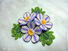 Quilling flowers made by Vasiliskamik by elinor