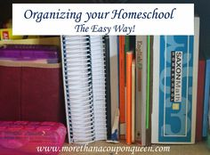 Organizing your Homeschool The Easy Way - After 5 years of homeschooling I have tried many things to organize our homeschool classroom. I have tried boxes, filing cabinets, binders, and many other methods. I think I have finally found a solution that works for me to homeschool in a small house! Check out my tips below. I hope it helps you to conquer the chaos.
