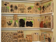 Looking for a way to organize your woodblock stamps? Libby shares an awesome DIY shelving solution.