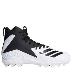 the best attitude b493a 5335e Adidas Kids Freak Mid MD High Top Cleat PreGrade School Shoes (White
