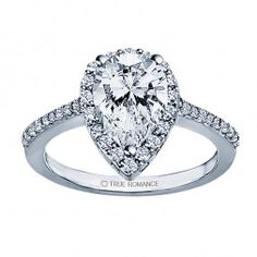 RM1382G82 - Pear Shape Halo Engagement Ring