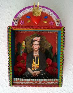 Frida Kahlo shrine by filzgood