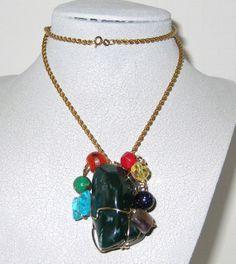 Handmade wire wrapped Bloodstone Jasper by DeanasQuiltsandMore, $50.00