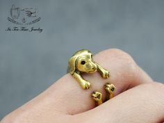 3D Cute Little Puppy Dog adjustable Ring! ------------------------------------------------- US Size : 6 - 8 Color: Gold Quantity: 1 pc ------------------------------------------------- Your jewelry will arrive in a gift box.  Handling time:  Please allow 1-3 business days for us to proce...