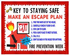 Fire Safety Tips For Kids Sparky Has Great Advice  Kid Crafts