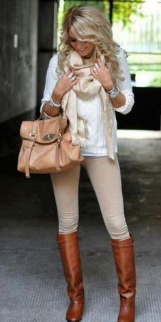 Love the layering with the scarf! The boots add an upscale and polished look.