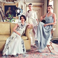 The ladies of Downton Abbey for the August 2014 issue