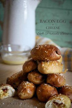 bacon egg and cheese pretzel bites