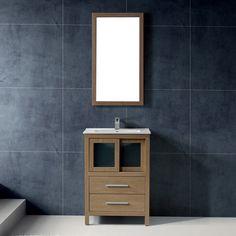 24-inch Alessandro Single Bathroom Vanity with Mirror