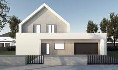 Flat Roof House Designs, Bungalow House Design, Cool House Designs, Modern Barn House, Modern House Design, Two Story House Design, Gable House, Modern Farmhouse Exterior, Facade House