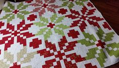 Norway by Thimbleblossoms :: Quilting by Judi Madsen Green Fairy Quilts Star Quilts, Quilt Blocks, Children's Quilts, Scandinavian Quilts, Snowflake Quilt, Snowflakes, Braid Quilt, Fat Quarter Quilt, Flower Quilts