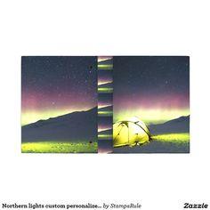 Northern lights custom personalize Aurora Borealis Mini Binder