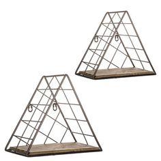 Triangle Metal Shelf Set