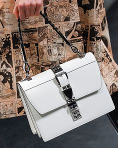 Prada's Spring 2018 Runway Bags Included Lots of Nylon and a Cast of Female Comic Heroes - PurseBlog