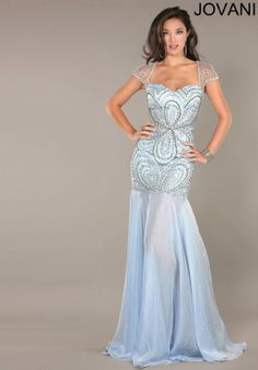 JOVANI 7007 Beaded Gown Light Blue $650 FREE WORLD DELIVERY * FREE GIFT WRAPPING * FREE RETURNS * 100% QUALITY ASSURANCE GUARANTEED..FOLLOW US ON POLYVORE! WE HAVE JUST BEEN HONORED WITH THE OFFICIAL BLACK SEAL ALONG WITH GUCCI  OTHER GREAT COMPANIES! SAVE $100.00 OFF THIS DRESS UNTIL DEC 21st!