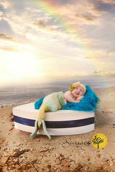 Mermaid baby...? I may or may not love how ridiculous this is. She probably needs it.