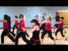 """Zumba """"Krazy""""  by Pitbull    This is why ZUMBA is so awesome!!! It is for everyone! Love the Grandma in the back killin it!"""
