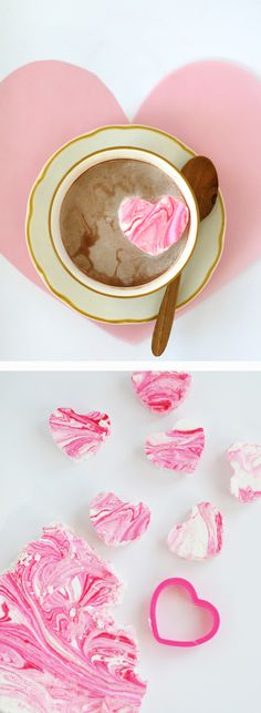 Easy (and oh so pretty) peppermint marshmallows.