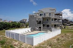 As You Like It: 7 Bedroom, 6 1/2 Bath - Private Heated Pool - Pet Friendly! - Oceanview - Frisco NC