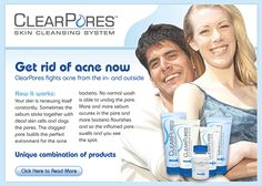 ClearPores is a total skin cleansing system designed to fight acne from the inside out and our blended ingredients make it one of the most successful acne products on the market.