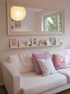 Mirror over the sofa