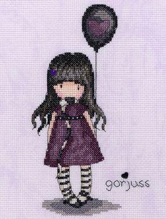 BOTHY THREADS Gorjuss The Balloon Cross Stitch New XG25.  Got for birthday 2015