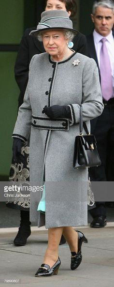 Queen Elizabeth II tours the new London Fire Brigade Headquarters in Southwark on February 2008 in London, England. Get premium, high resolution news photos at Getty Images Duchess Of York, Duchess Of Cambridge, Queen Mary, Queen Elizabeth Ii, Jackie Kennedy, Elizabeth England, Her Majesty The Queen, Prince Phillip, Looks Chic