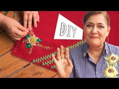 YouTube Poinsettia, Hand Embroidery, Youtube, Stitch, Knitting, Holiday Decor, Diy, Ideas Para, Videos