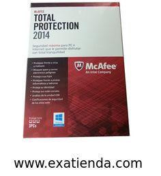 Ya disponible Antiv. Mcafee total protection 2014 3lc   (por sólo 33.89 € IVA incluído):   - McaFee TOTAL PROTECTION 2014 3LC - Motor de análisis de nueva generacion y alto rendimiento que ofrece maxima velocidad de analisis y uso optimizado de la bateria, y proporciona proteccion proativa frente a los ultimos virus, troyanos, spyware, rootkits y otras amenazas (MEJORADO)  - Optimizar el PC para mejorar el rendimiento - El analizador de vulnerabilidades de McAffe (NUEVO)