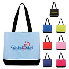 Promotional Large Zippered Promo Tote Bag